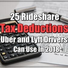 25 Rideshare Tax Deductions Uber and Lyft Drivers Can Use in 2018