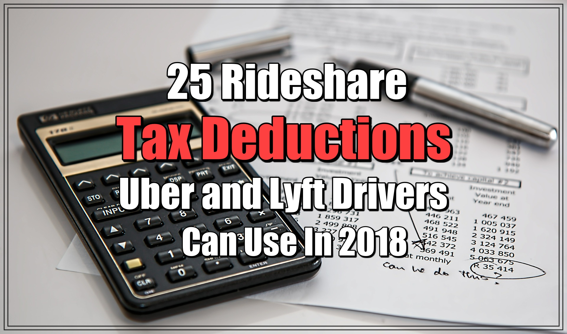 list of tax deductions for uber drivers